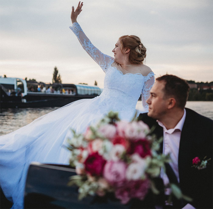 Wedding on the Grand Bohemia boat