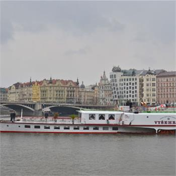 The Vyšehrad on an opening cruise