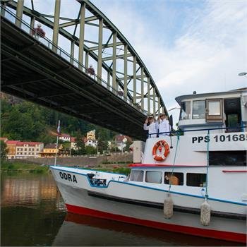 První plavba Odry do Drážďan