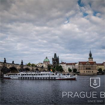 Cecílie Boat by the Charles Bridge