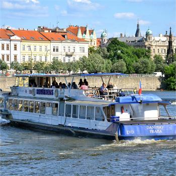Danubio in the middle of Vltava river