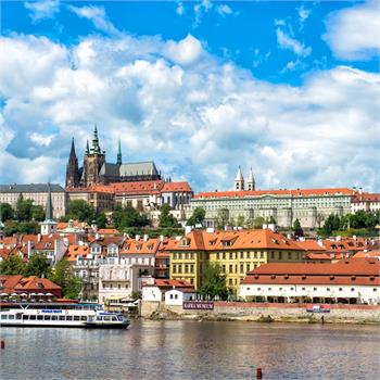 Panorama of the Lesser Town and Prague Castle