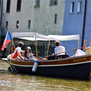 Boat Šárka on Čertovka