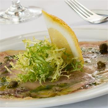 Swordfish Carpaccio with olive oil