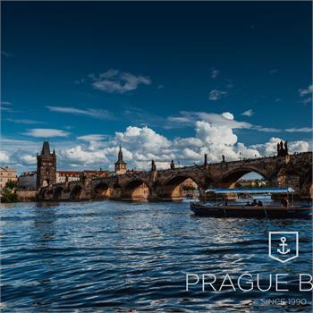 Ship Master Jan Hus in the center of Prague