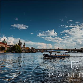 Master Jan Hus ship sailing on Prague