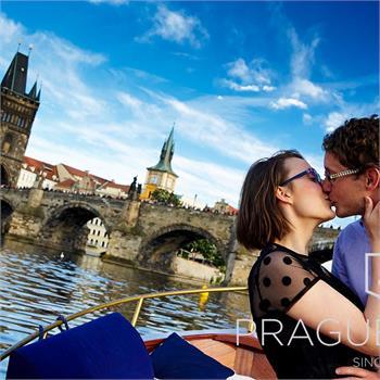 Romantic cruise on the Vltava River