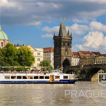 View of the Charles Bridge from the cruise