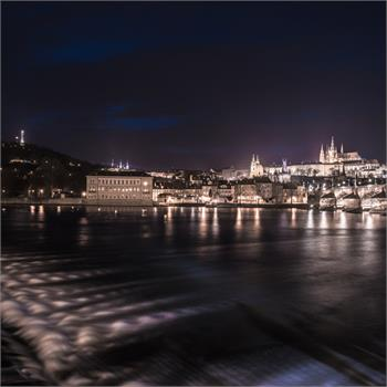 The Vltava in winter