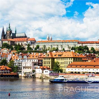 Grand Bohemia boat and Prague panorama