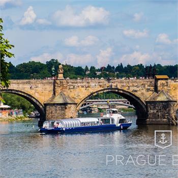 Charles Bridge up-close from the ship Grand Bohemia