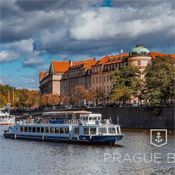Labe boat at a sightseeing cruise