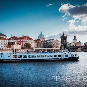 Labe boat at the centre of Prague