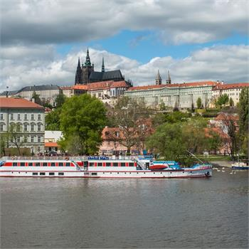 A breathtaking view of the Hradčany from the Šumava boat