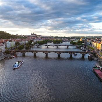 Prague boasts beautiful bridges