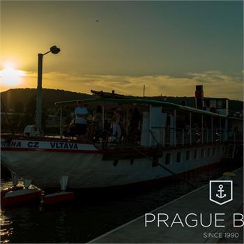 Steamboat Vltava at sunset
