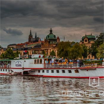 Steamboat Vltava at the Straka Academy