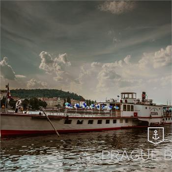 Steamboat Vltava at the sightseeing cruise
