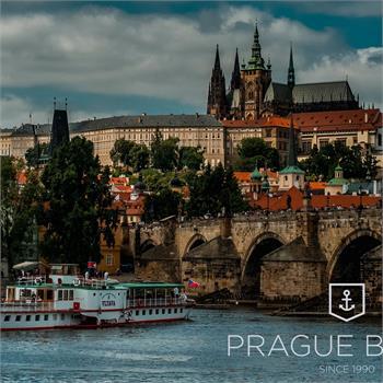 Steamboat Vltava in the center of Prague