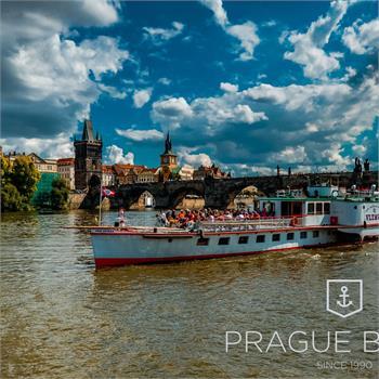 Steamboat Vltava on a cruise through Prague