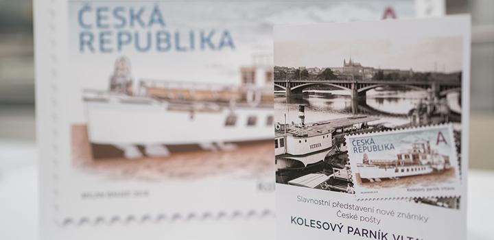 Nové známky České pošty i kniha o paroplavbě pokřtěny
