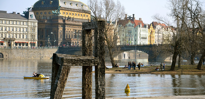 First spring weekend on the Vltava