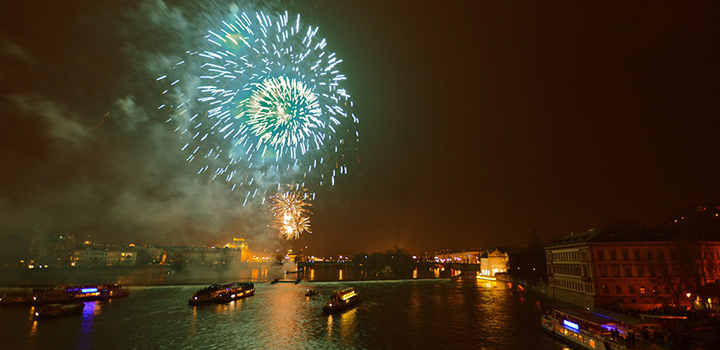 Fireworks on the Vltava