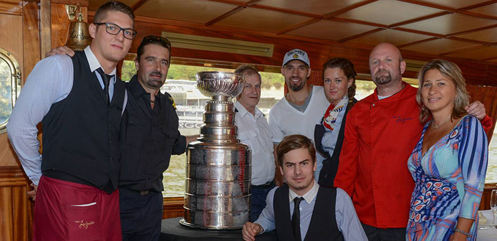 Michal Rozsíval & the Stanley Cup on Board the Lužnice