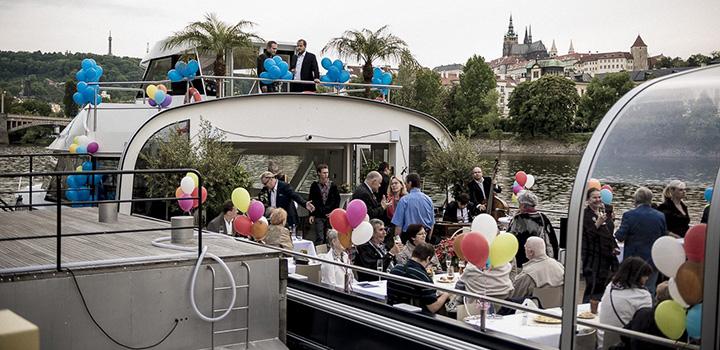 Birthday party celebration on Bohemia Rhapsody boat